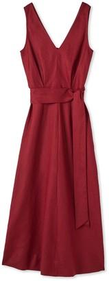 Jigsaw Linen V Neck Midi Dress