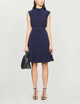 Whistles Belted stretch-crepe dress