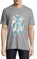 Robert Graham Skeleton Robot Graphic T-Shirt, Heather Gray