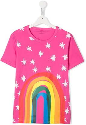 Stella McCartney TEEN rainbow print T-shirt
