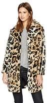 Cupcakes And Cashmere Women's Abeni Leopard Faux Fur Coat