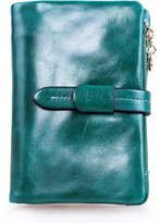 YaFeiGe Women's Soft Genuine Leather Small Compact Trifold Wallet with Coin Pocket