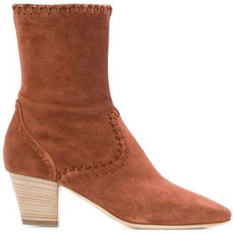 Alberta Ferretti Stitching Detail Boots