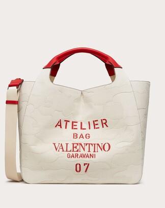 Valentino Garavani Uomo Valentino Garavani 07 Camouflage Edition Atelier Tote Bag In Canvas Man Natural 63% Cotton 37% Linen OneSize
