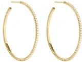 Jennifer Meyer Large Pavé Diamond Hoops - Yellow Gold