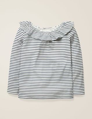 Boden Ruffle Neck Top