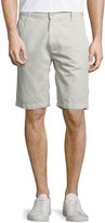 7 For All Mankind Linen-Blend Chino Shorts, White Sand