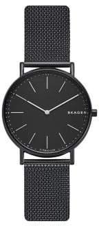 Skagen Signatur Slim Titanium & Stainless Steel Mesh-Strap Watch