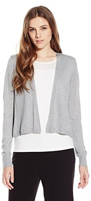 Lark & Ro Amazon Brand Women's Lightweight Long Sleeve Short Cardigan Sweater Heather Grey X-Large