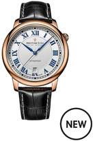 Dreyfuss & Co Dreyfuss White Printed Roman Dial Rose Gold Plated Strap Mens Watch