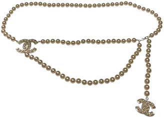 Chanel White Pearls Belts