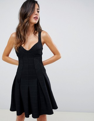 ASOS DESIGN mini bandage skater dress