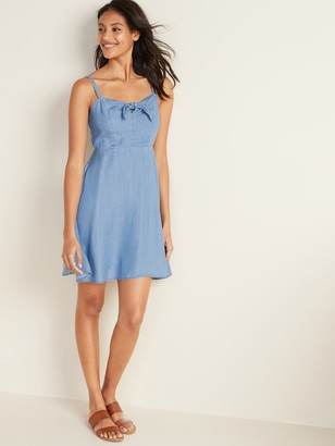 Old Navy Fit & Flare Chambray Cami Dress for Women