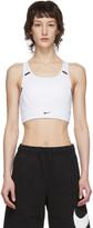 Nike White Swoosh Pocket Sports Bra