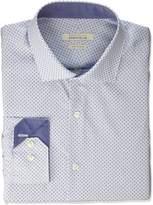 Perry Ellis Portfolio Men's Slim Fit Performance Graph Print Dress Shirt