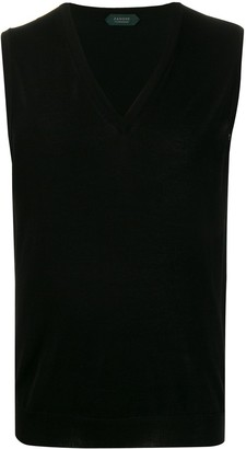 Zanone Knitted Sleeveless Vest