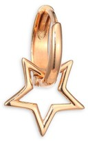 Kismet By Milka Sheriff Star 14K Rose Gold Single Hoop Earring