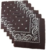 Best 6 Color Pack Paisley Bandana Scarf, Head Wraps brown