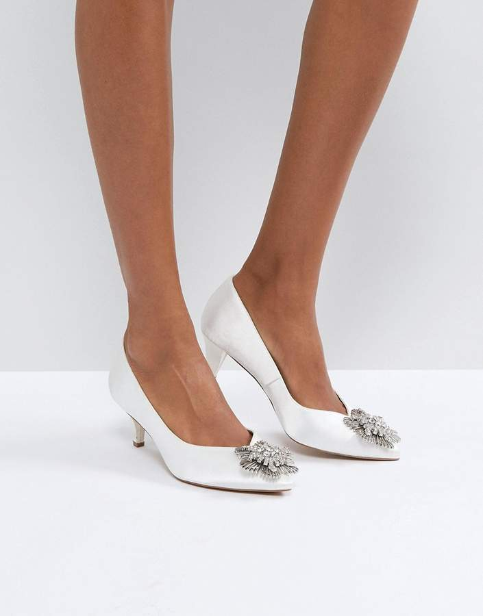 Asos Soya Bridal Embellished Kitten Heels