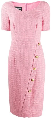 Boutique Moschino Fitted Tweed Button-Up Dress
