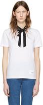 Miu Miu White Cat Collar T-shirt
