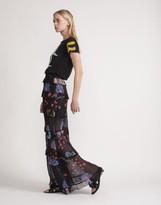 Cynthia Rowley Tiered Ruffle Maxi Skirt