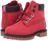 Timberland Kids 6 Premium Waterproof Boot - Chicago Bulls (Toddler/Little Kid) (Medium Red Nubuck) Kids Shoes
