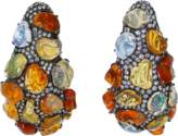 Arunashi Fire Opal And Diamond Earrings