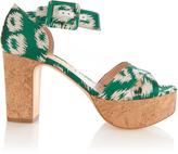 Rupert Sanderson Haitana suede platform sandals
