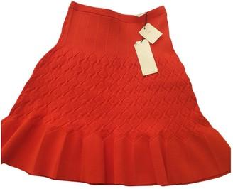 Sandro Red Viscose Skirts