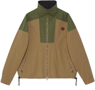 Gucci Cotton nylon zip-up jacket