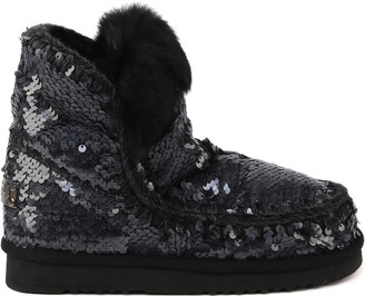 Mou Eskimo Boots With Sequins With Fur