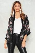 Nasty Gal nastygal Black Based Floral Kimono