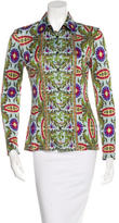 Philosophy di Alberta Ferretti Long Sleeve Button-Up Top