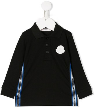 Moncler Enfant Logo Tape Polo Shirt