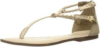 Naughty Monkey Women's in Luck Now Dress Sandal Cream 9.5 M US