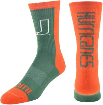 Men's Mojo Miami Hurricanes Loud & Proud Crew Socks