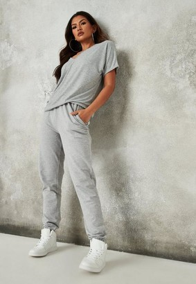 Missguided Gray Basic Joggers