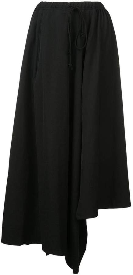 Yohji Yamamoto asymmetric midi skirt