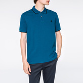 Paul Smith Men's Turquoise PS Logo Organic-Cotton Polo Shirt