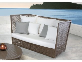 Panama Jack Outdoor Maldives Patio Loveseat with Sunbrella Cushions Cushion Color: Spectrum Graphite