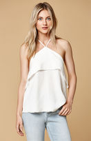 Honey Punch Raw Edge Halter Tank Top