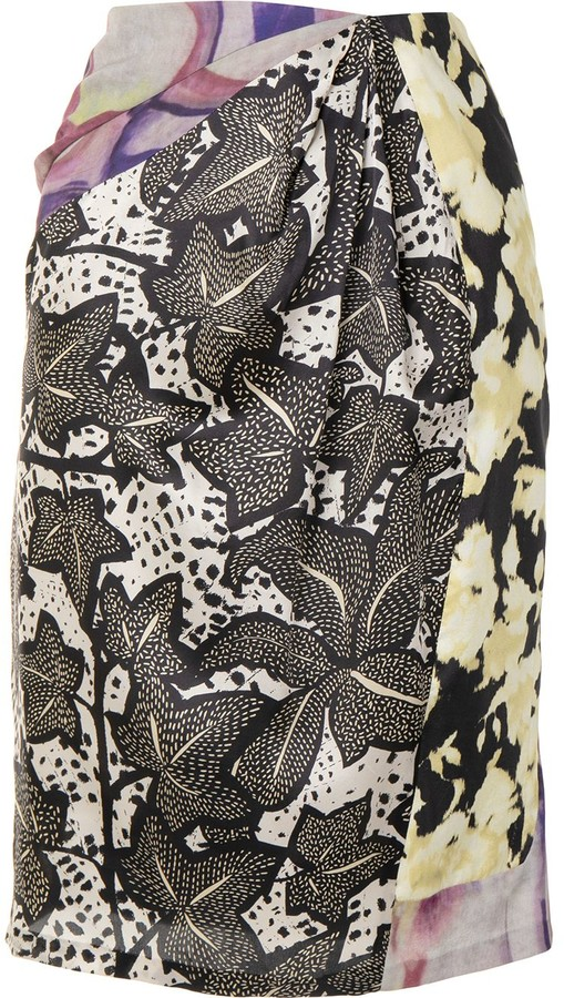 Dries Van Noten Pre-Owned Abstract Print Skirt