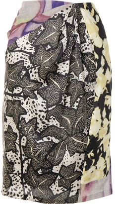 Dries Van Noten Pre Owned Abstract Print Skirt