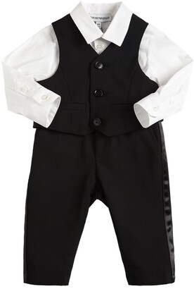 Emporio Armani Virgin Wool Blend Vest, Pants & Shirt