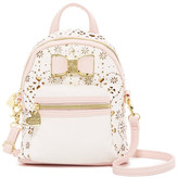 Betsey Johnson Laser Cut Backpack Crossbody
