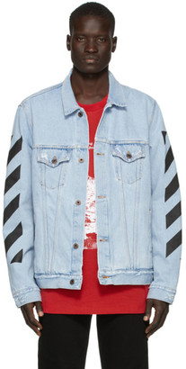 Off-White SSENSE Exclusive Blue Denim Temperature Jacket