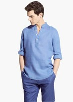 Mango Outlet Classic-Fit Mao Collar Linen Shirt