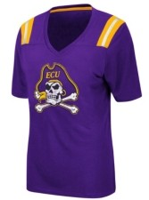 Colosseum Women's East Carolina Pirates Rock Paper Scissors T-Shirt
