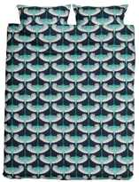 H&M Patterned Duvet Cover Set - Dark blue/birds